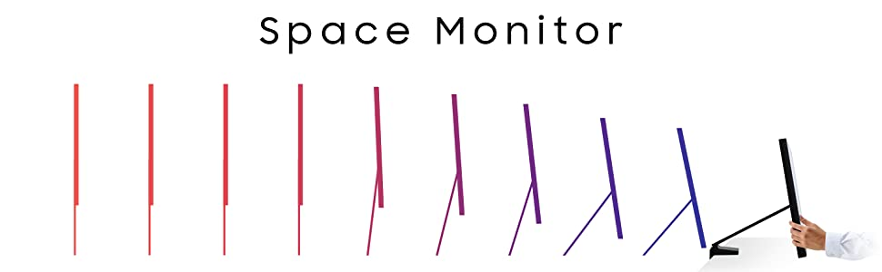 Space Monitor height adjustable arm banner