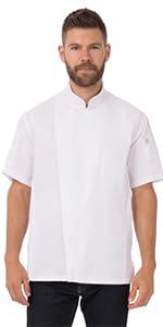 Chef Works Men's Springfield Chef Coat, White