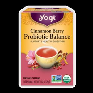 Yogi Tea, Probiotic Balance, Cinnamon Berry, 16 Count