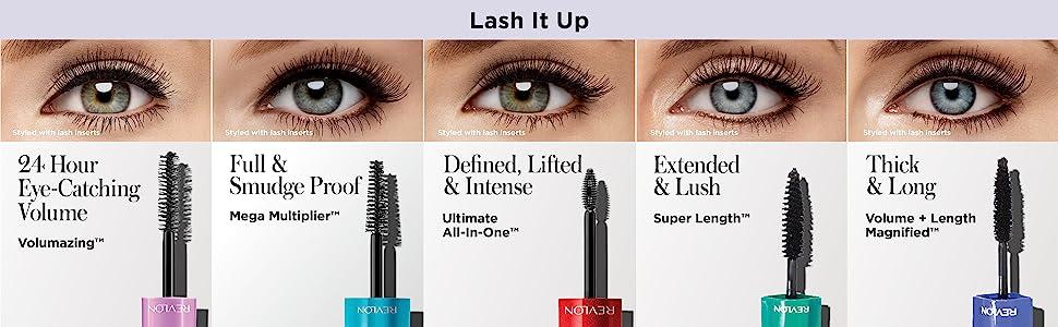 Revlon Volumazing Mascara - Ultra Creamy & Quick Building Eye Makeup For Long Eyelashes