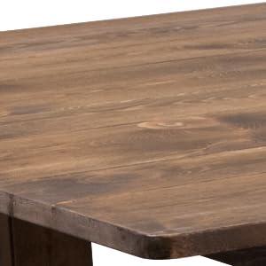 Flash Furniture Hercules Series 9u0027 X 40u0027u0027 Antique Rustic Solid Pine Folding  Farm Table
