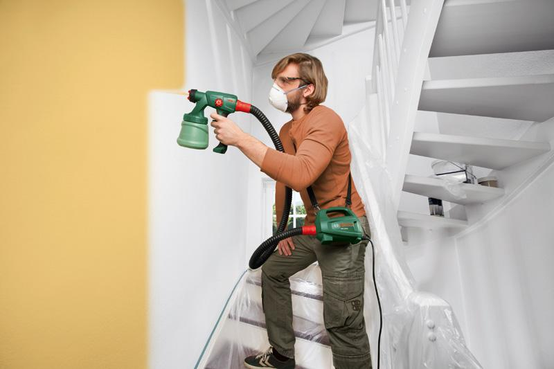 bosch feinspr hsystem pfs 2000 2x d sen wandfarbe holzfarbe 3x farbbeh lter 800 ml. Black Bedroom Furniture Sets. Home Design Ideas