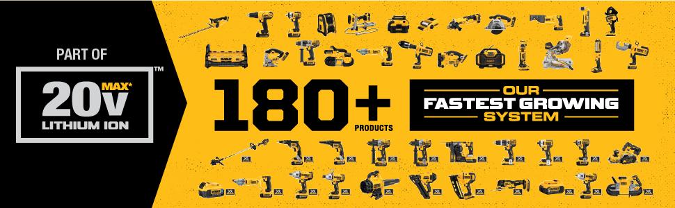 dewalt 20v, lithium ion tool system, 20v lithium ion, cordless power tools