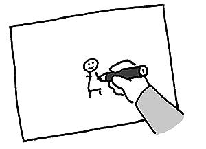 自分のいる位置を紙に描く