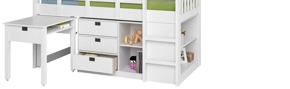 Corliving Bmg 310 B Madison Single Twin Loft Bed With Desk