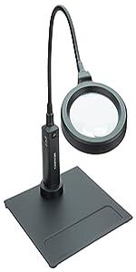 magnifier; hobby; craft; lighted; gooseneck; magnifier for reading; magnifying glass; desktop;