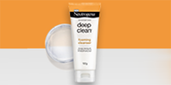 cleanser, cleanser for face, deep clean foaming cleanser, Neutrogena, Neutrogena deep clean