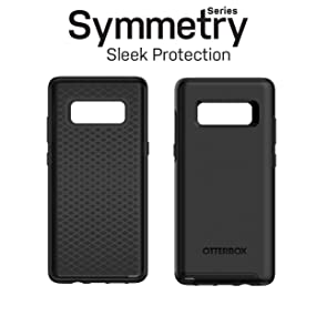 on sale d5b9e af64d OtterBox SYMMETRY SERIES Case for Samsung Galaxy Note8 - Retail Packaging -  BLACK