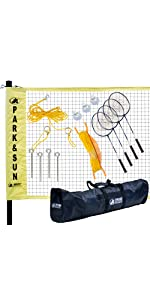 badminton, complete, outdoor, yellow, net, grass, outdoor, BM-PS/ALUM, pro, black