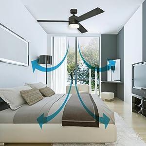 Westinghouse Ceiling Fans Comet Tiffany Ventilador de Techo E14, 60 W, Espresso: Amazon.es: Iluminación