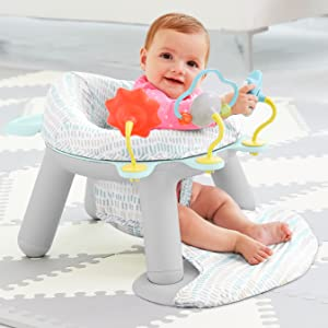 Skip Hop Silver Lining Cloud Baby Chair 2 In 1 Sit Up Floor Seat Infant Activity Seat