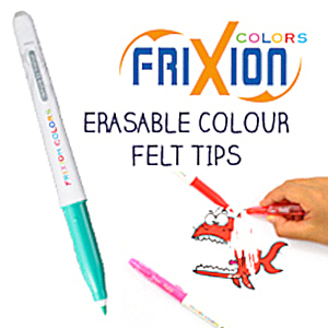 FriXion pens colouring colours color colors erasable ink
