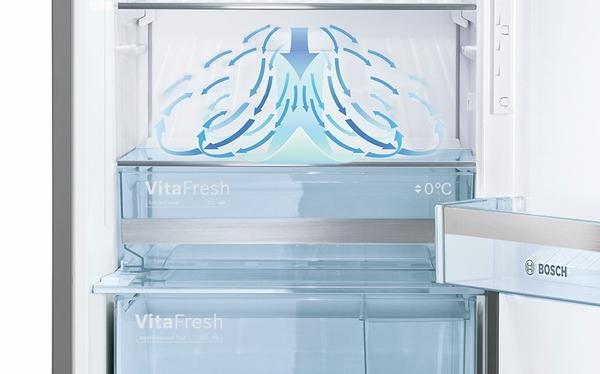 Bosch Kühlschrank Geräusche : Bosch kgf39sm45 kühl gefrier kombination gefrierteil unten a