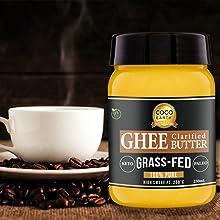 keto coffee, ghee for bullet coffee, bulletproof coffee