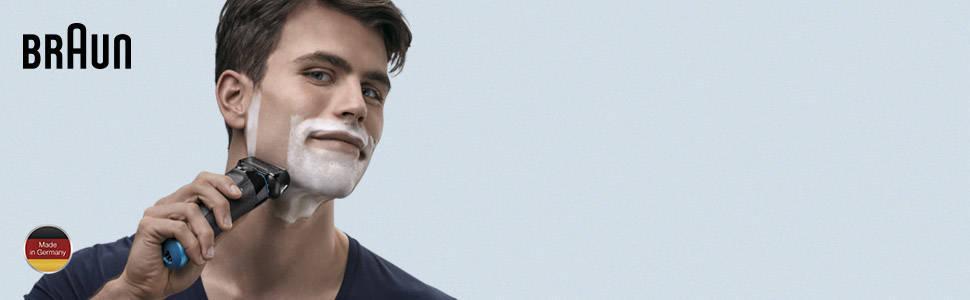 Braun Series 5 5147 s - Afeitadora eléctrica hombre, Afeitadora Barba, en Húmedo y Seco, Recortadora de Precisión Extraíble, Recargable e Inalámbrica, Negro/Azul/Cromo: Amazon.es: Salud y cuidado personal