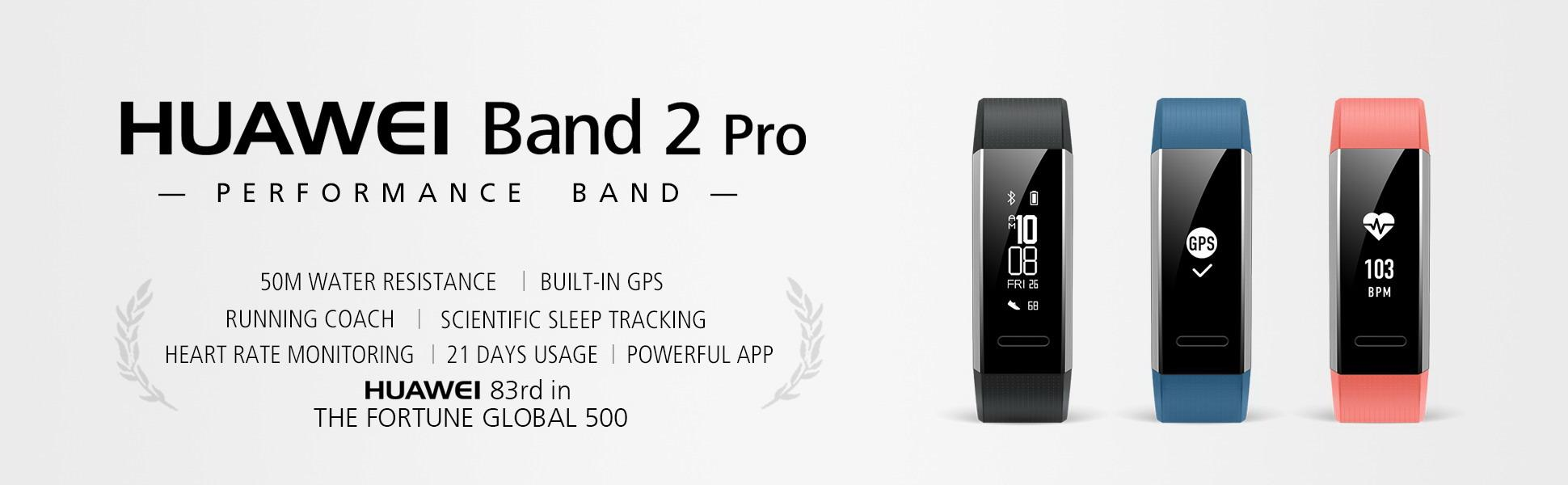 Huawei Band 2 Pro All In One Smart Fitness Wristband Black Watch Stainless Steel Mesh Us Warranty The Smooth Ergonomic Design Of Merges Seamlessly With Your Wrist To Empowering You Take On Any Challenge