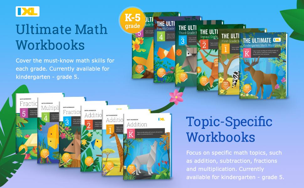 IXL workbooks showcase