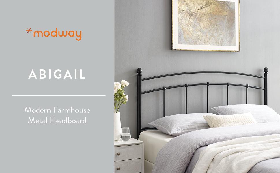 Abigail Full Metal Headboard BLK