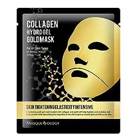 Amazon Com Masqueology Collagen Hydro Gel Gold Mask