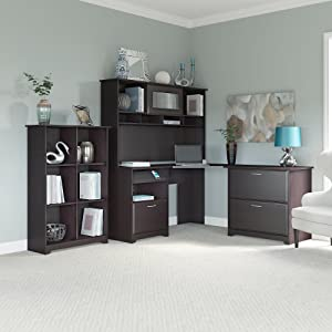 new finish collection my l performance hutch youtube magellan desk shaped realspace watch espresso