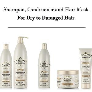 Il Salone Milano legendary collection shampoo conditioner mask spray hair care dry damaged keratin