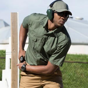 Man in RevTac at training range