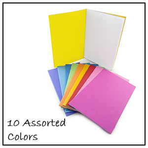 """Sketch Hygloss Products Colorful Paperback Blank Books Pack of 10 Assorted Colors 8.5 x 11/"""" Journaling Writing Coloring Book for Children and Adults"""
