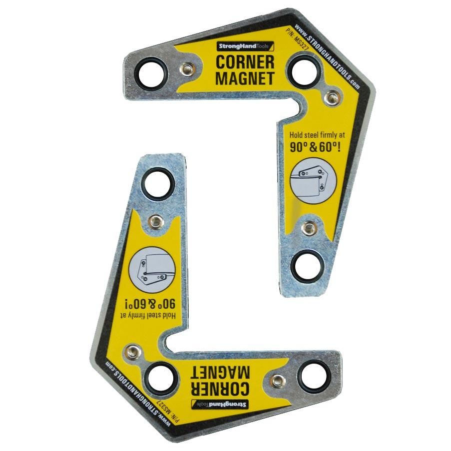 Strong hand Tools MST327 Corner Magnets Twin Pack, 3.25-Inch x 3.75 ...