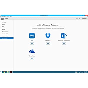 Work w/ Dropbox, Box & OneDrive.