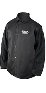 Large K3112-L Lincoln Black Flame Retardent Lab Coat