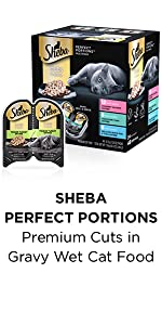 Sheba Perfect Portions Premium Cuts in Gravy Wet Cat Food, Age, Older Cats, Chewable