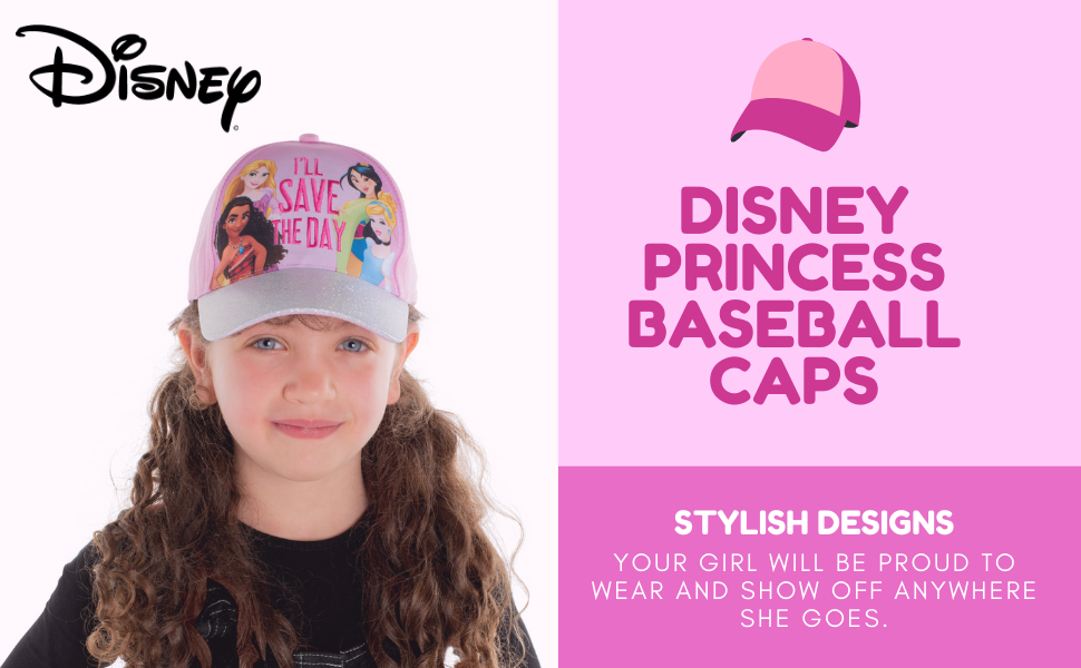Disney princess Toddler baseball hat Kids hat Sun hat Girl hat cap sombrero de niños gorra de niños