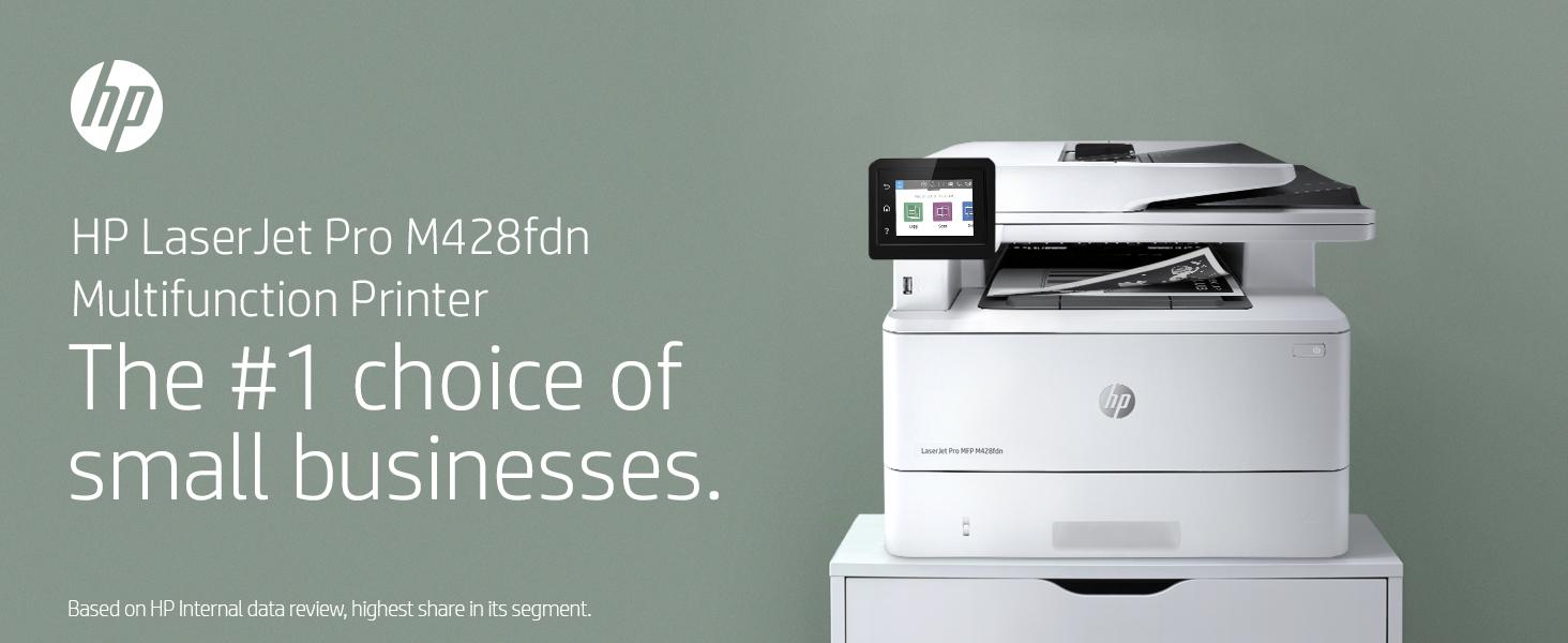 HP LaserJet Pro M428fdw business multifunction printer work workload focus Sustainability MFP