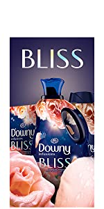 downy infusions fabric conditioner, bliss scent, fabric softener, washing machine, dryer sheets