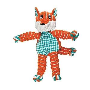 KONG; fox; internal; knot; orange; blue; cute; design; dog toys