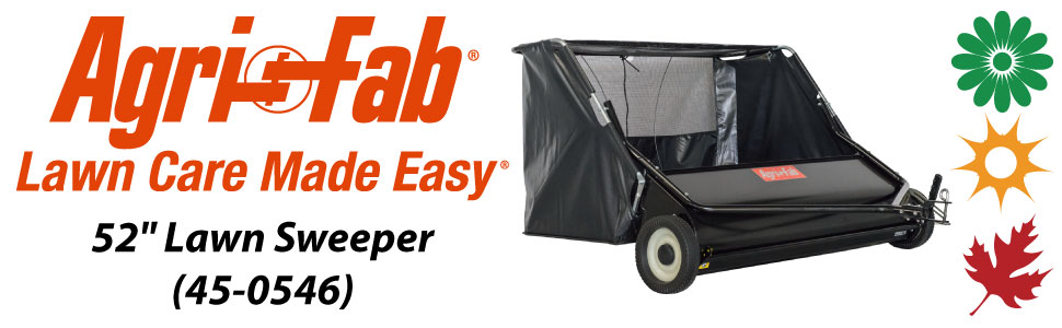 """Agri-Fab, Inc. 52"""" Tow Behind Lawn Sweeper Model #45-0546"""