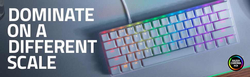 Razer Huntsman Mini Red Switch Teclado compacto para juegos compacto al 60% con interruptores opto-mecánicos lineales, teclas PBT, cable USB-C ...