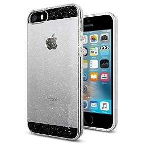 Spigen Liquid Air Armor Designed for Apple iPhone SE Case (2016) / Designed for iPhone 5S (2013) Case - Glitter Crystal Quartz