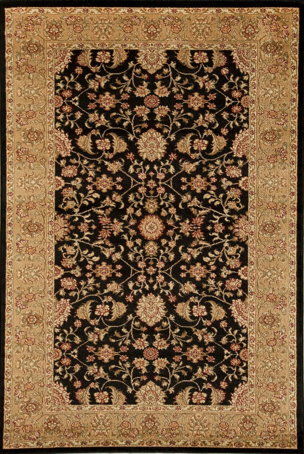 Rugs America Sorrento Tabriz Black 3129 Rug 6 Foot 7