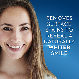 Removes surface stains for a reveal a naturally whiter smile