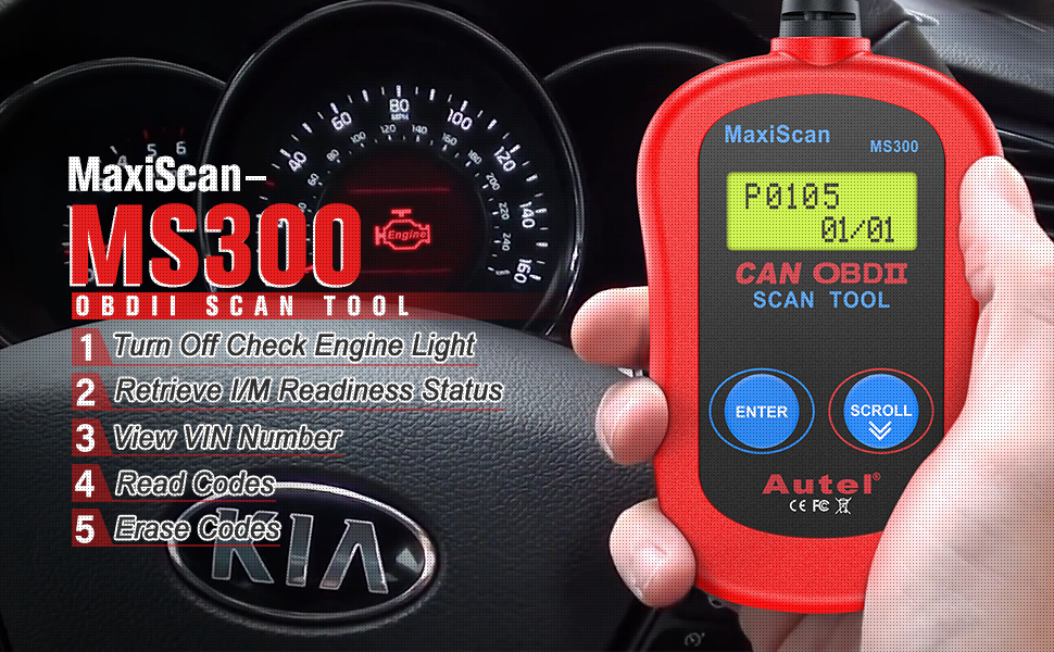 Autel MaxiScan MS300 OBD2 Scanner Check Engine Code Reader