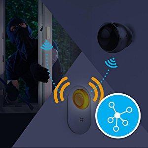 sensor, sirene, animali domestici, perdite d'acqua, porte e finestre