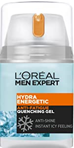L'Oreal Men Expert, Hydra Energetic, Men's Moisturiser, Anti-Shine, Wake Up
