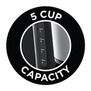 5 cup capacity