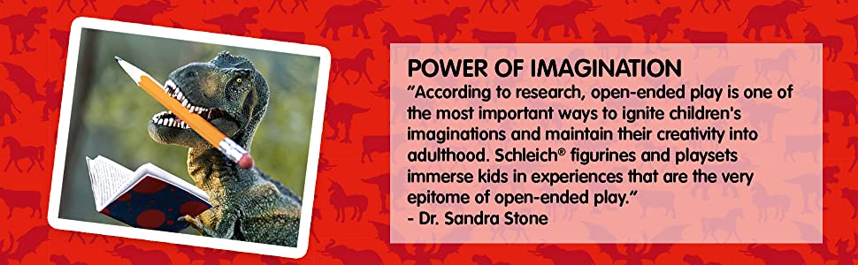 Renowned open play expert Dr. Sandra Stone recommends Schleich toys to ignite kids' imaginations