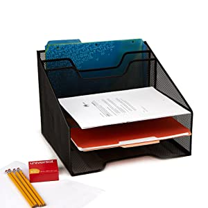 mind, reader, compartments, mesh, black, desk, organizer, storage, files, folders, office, home