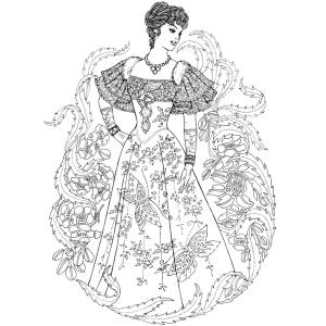 Amazon.com: Creative Haven Ornamental Fashions Coloring Book ...