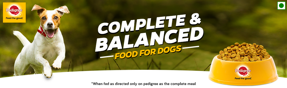 Complete and balanced food for dogs