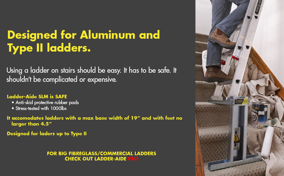 Silver Type 2 Ideal Security LA1120 Ladder Aide SLM