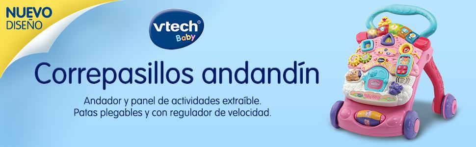 VTech - Correpasillos Andandín 2 en 1, Diseño Mejorado, Andador ...